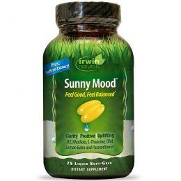 Irwin Naturals, Sunny Mood, солнечное настроение, 75 жидкостных желатиновых капсул
