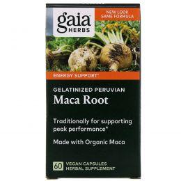 Gaia Herbs, Корень маки, 60 растительных капсул