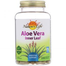 Nature's Herbs, Алоэ вера, мякоть листьев, 100 вегетарианских капсул