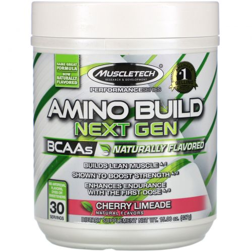 Muscletech, Amino Build Next Gen BCAAs , Cherry Limeade, 15.06 oz (427 g)