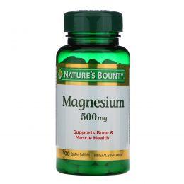 Nature's Bounty, Магний, высокая эффективность, 500 мг, 100 таблеток