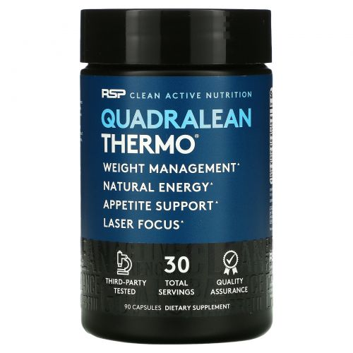 RSP Nutrition, QuadraLean Thermo, Fat Burner, 90 Capsules