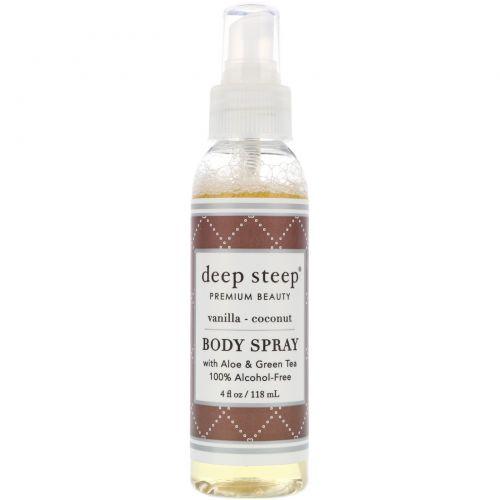 Deep Steep, Спрей для тела, ваниль - кокос, 118 мл