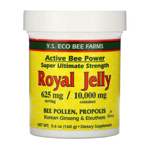 Y.S. Eco Bee Farms, Мед с маточным молочком, 625 мг, 5.6 унций (160 г)
