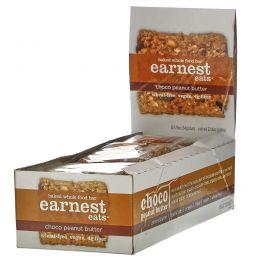 Earnest Eats, Запеченные цельные продукты, шоколад и арахисовое масло, 12 батончиков, 1,9 унц. (54 г) каждый