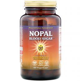 HealthForce Nutritionals, Средство для сахара в крови из мексиканского кактуса, 180 веганских капсул