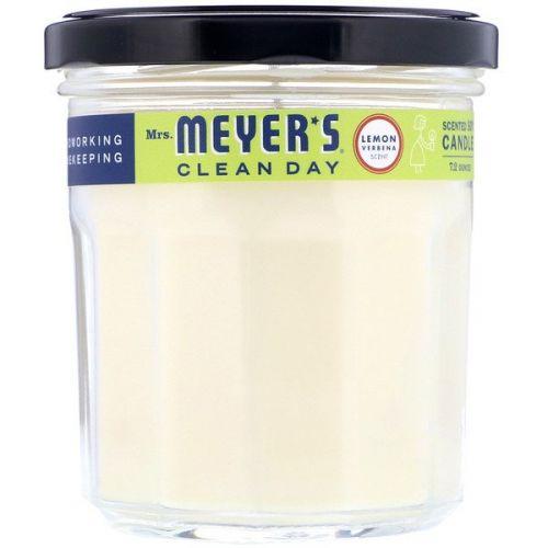 Mrs. Meyers Clean Day, Ароматические соевые свечи, с запахом вербены лимонной, 7,2 унции