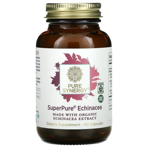 The Synergy Company, SuperPure Echinacea Organic Extract, 60 Capsules