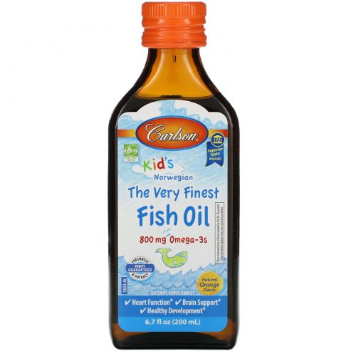 Carlson Labs, Kid's,Norwegian, The Very Finest Fish Oil, Natural Orange Flavor, 6.7 fl oz (200 ml)