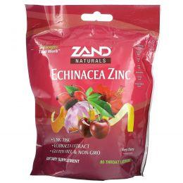 Zand, Таблетки на основе трав, эхинацея и цинк, со вкусом вишни, 80 таблеток