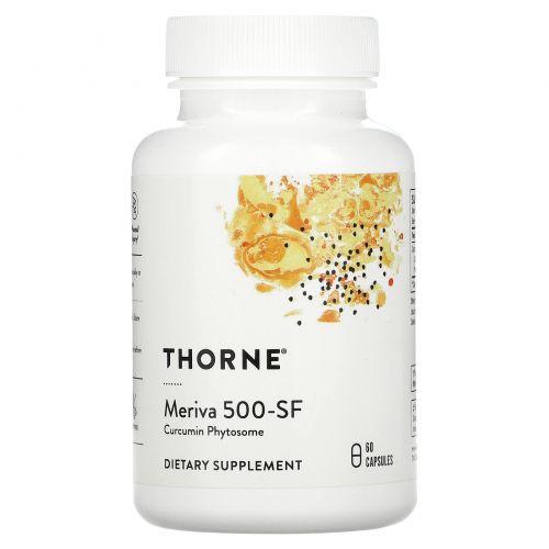 Thorne Research, Мерива 500 - СФ, без сои, 60 вегетарианских капсул