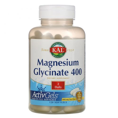 KAL, Magnesium Glycinate 400, 120 Softgels