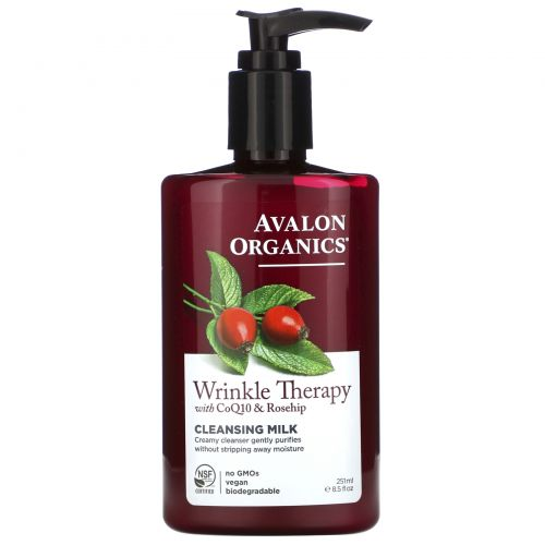Avalon Organics, CoQ10 Repair, очищающее молочко для лица, 8,5 жидкой унции (251 мл)