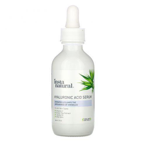 InstaNatural, Сыворотка с гиалуроновой кислотой и витамином C, 2 ж. унц.(60 мл)