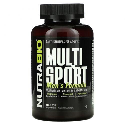 NutraBio Labs, MultiSport Men's Formula, 120 Vegetable Capsules