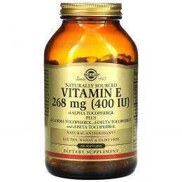 Solgar, Натуральный витамин E, 400МЕ, 250 мягких капсул