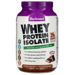 Bluebonnet Nutrition, Изолят сывороточного протеина, природный вкус шоколада, 2 фунта (924 г)