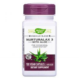 Nature's Way, Пищевая добавка Nurturalax 3, с алоэ, 100 капсул