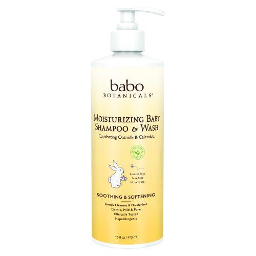 Babo Botanicals, Увлажняющий детский шампунь и гель для душа, овсяное молочко и календула, 16 жидких унций (473 мл)
