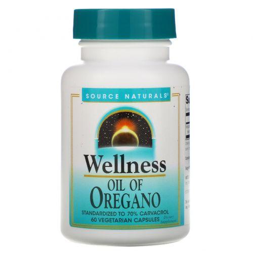 Source Naturals, Масло душицы для здоровья, 60 капсул