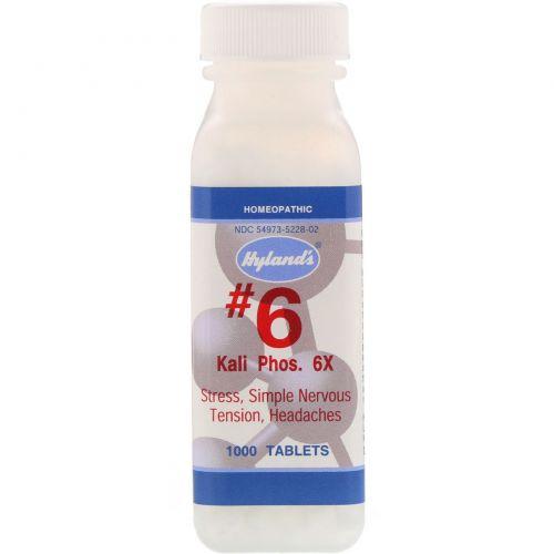 Hyland's, #6 Кали Фосфорикум, Калия Фосфат 6х, 1000 таблеток