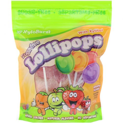 Xyloburst, Lollipops Mixed Flavors, 25ct bag