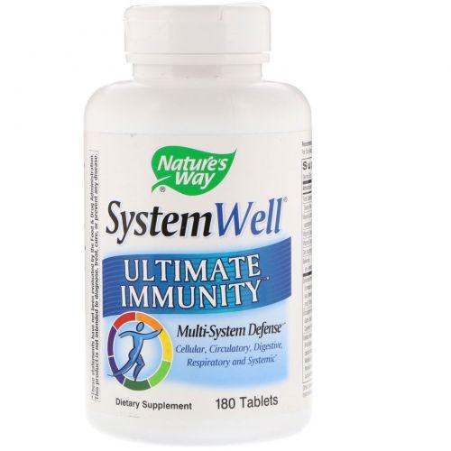 Nature's Way, System Well, Средство для укрепления иммунитета, 180 таблеток