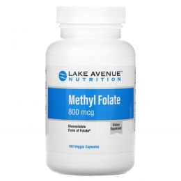 Lake Avenue Nutrition, Methyl Folate, 800 mcg, 120 Veggie Capsules