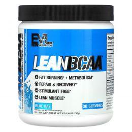 EVLution Nutrition, Stimulant Free Lean BCAA, Fat Burner, Endurance, Recovery, Build Muscle, Blue Raz, 9.4 oz (267 g)