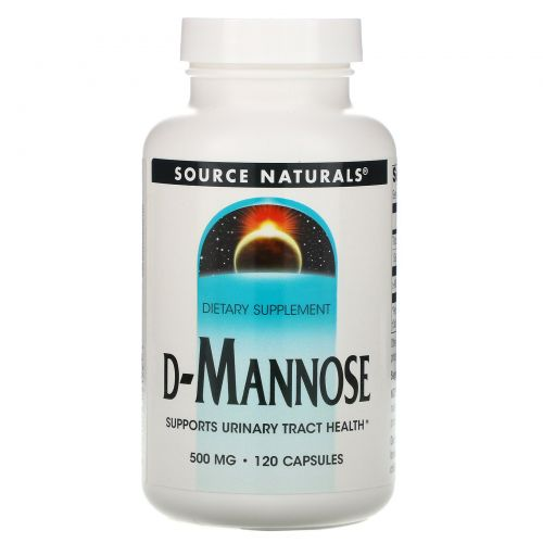 Source Naturals, D-манноза, 500 мг, 120 капсул