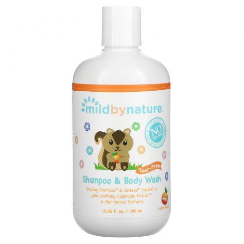Mild By Nature, Продукция для детей, шампунь-гель без слез, 12,85 жидких унции (380 мл)