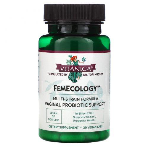 Vitanica, Фэмеколоджи, вагинальная поддержка/поддержка внутренних органов, 30 вегетарианских капсул