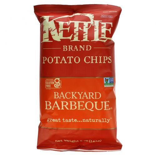 Kettle Foods, Картофельные чипсы со вкусом барбекю, 5 унций (142 г)
