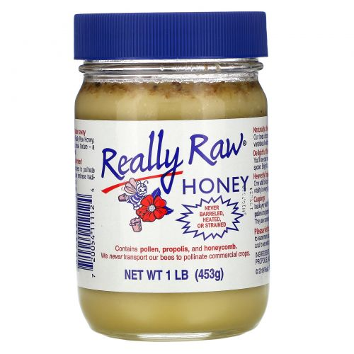 Really Raw Honey, Мед, 1 фунт (453 г)