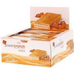 BNRG, Power Crunch Protein Energy Bar Original, Salted Caramel, 12 Bars, 1.4 oz (40 g) Each