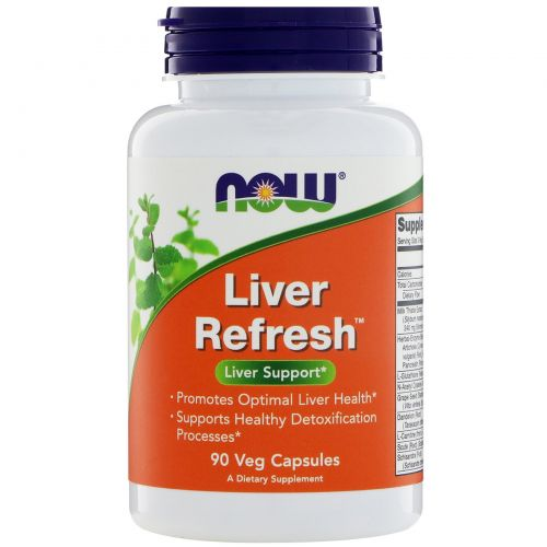 Now Foods, Liver Refresh, 90 вегетарианских капсул