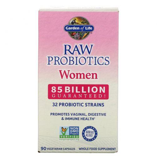 Garden of Life, Пробиотики от RAW, для женщин, 90 овощных капсул (Ice)