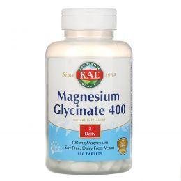 KAL, Магний глицинат 400, 400 мг, 180 таблеток