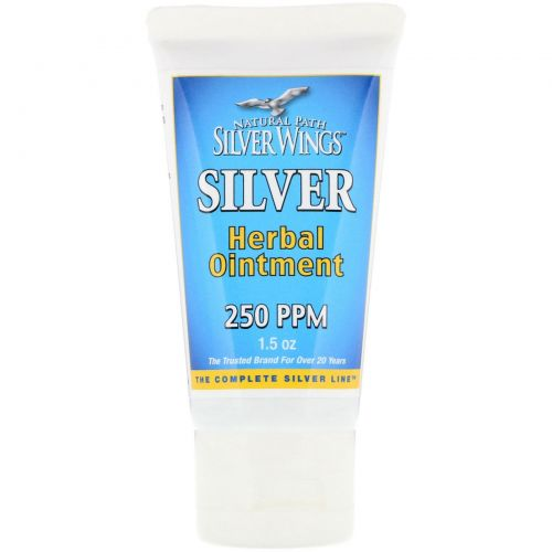 Natural Path Silver Wings, Травяная мазь с серебром, 250 PPM, 1,5 унции