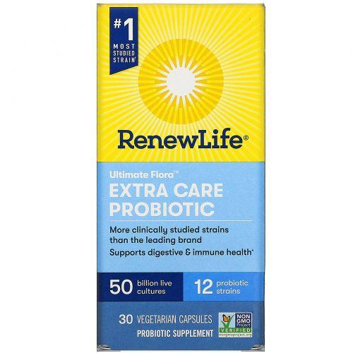 Renew Life, Extra Care, Ultimate Flora Probiotic, 50 Billion Live Cultures, 30 Vegetarian Capsules