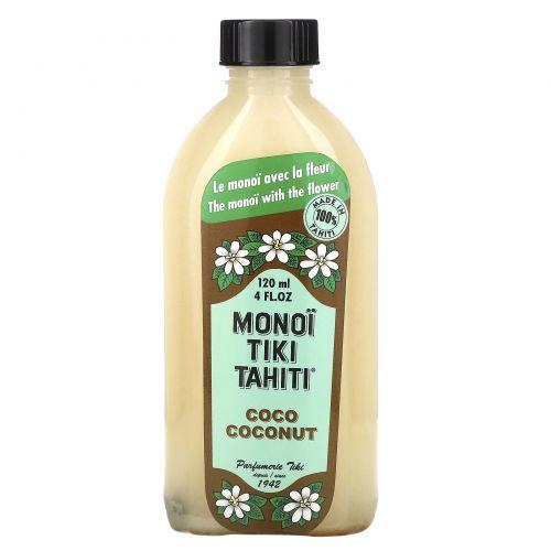 Monoi Tiare Tahiti, Кокосовое масло, 4 жидких унций (120 мл)