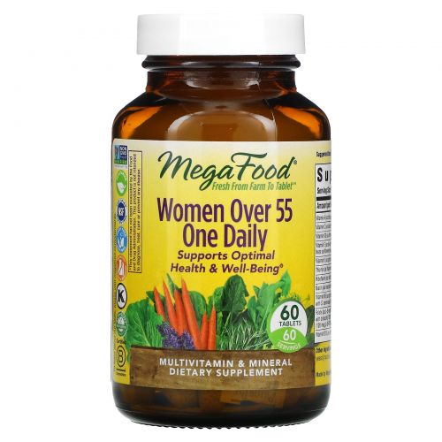MegaFood, One Daily, Multivitamin & Mineral, Women Over 55, 60 Tablets