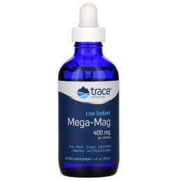 Trace Minerals Research, Mega-Mag, естественный ионический магний с микроэлементами, 400 мг, 4 жидк. унц. (118 мл)