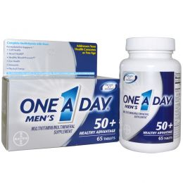 One-A-Day, Men's, 50+ Healthy Advantage,мультивитамин /мультиминерал, 65 таблеток