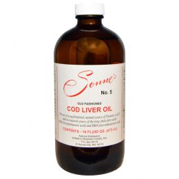 Sonne's, No. 5, традиционное масло из печени трески, 16 жидких унций (473 мл)
