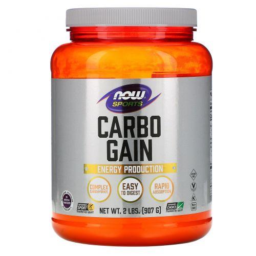 Now Foods, Спорт, Carbo Gain, 2 фунта (907 г)