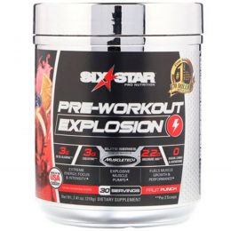 Six Star, Pre-Workout Explosion, Fruit Punch, 7.30 oz (207 g)