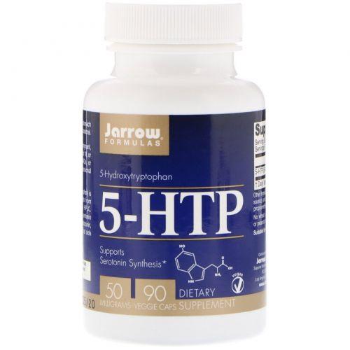 Jarrow Formulas, Окситриптан, 5-гидрокситриптофан, 50 мг, 90 капсул на растительной основе