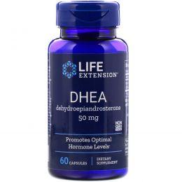 Life Extension, ДЭА (дегидроэпиандростерон ) 50 мг, 60 капсул