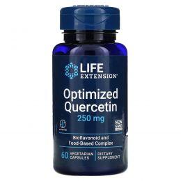 Life Extension, Оптимизированный кверцетин, 250 мг, 60 вегетарианских капсул